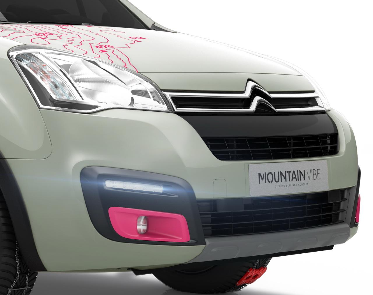 Berlingo Mountain Vibe konseptbil 2015 forfra